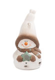 Figurine little snowman Royalty Free Stock Photography
