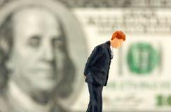 Figurine of loser businessman Stock Image