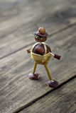 Figurine made of chestnuts Stock Photography