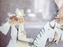 Figurine married on horseback Royalty Free Stock Images