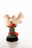 Figurine pigeons Stock Image
