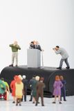 Figurine of a politician speaking to the people  Stock Photography