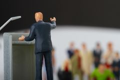 Figurine of a politician speaking to the people Royalty Free Stock Photography
