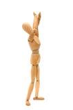 Figurine - proteja minha cabeça Imagens de Stock Royalty Free
