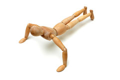 Figurine - Pushup Stock Images