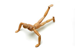 Figurine - Pushup with leg raise Royalty Free Stock Photography