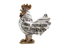 Figurine of a rooster on a white background. Cock on a white background, the Chinese auspicious symbol Stock Image