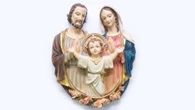 Figurine sainte de famille Photographie stock libre de droits
