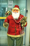Figurine of Santa. Santa figure at the entrance to the store Finland Stock Image