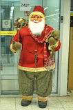 Figurine of Santa. Santa figure at the entrance to the store Finland Stock Images
