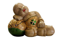 Figurine of the sleeping Buddha Stock Images