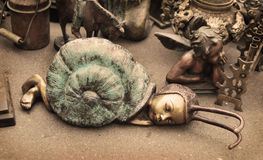Figurine of a snail Royalty Free Stock Photography