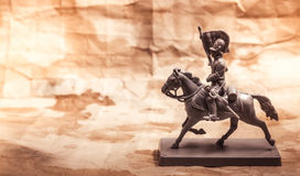 Figurine soldier, Russian dragoon Royalty Free Stock Photo