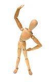 Figurine - Stretch. Figurine Pose - Stretch royalty free stock image