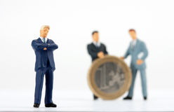 Figurine of successful businessman Royalty Free Stock Photography