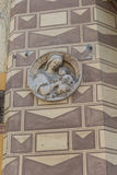 Figurine symbol on old house wall #2. Salsomaggiore Italy Royalty Free Stock Photos