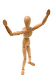 Figurine - Thank You. Figurine Pose - Winner expressing thank you royalty free stock photos
