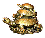 Figurine Three turtles. High quality photo of figurine of three turtles. This is a chinese symbol of Career growth royalty free stock image