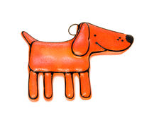 Toy dog. Figure of a dog from color glass Stock Photography