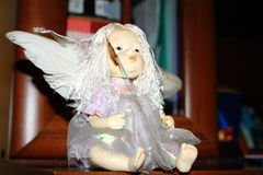 Figurine toy girl angel Royalty Free Stock Photography