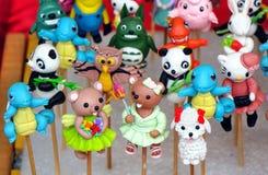 Figurine tradizionali cinesi della pasta immagini stock libere da diritti