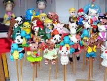 Figurine tradizionali cinesi della pasta fotografia stock libera da diritti