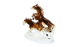 Figurine - two running horses Stock Photo