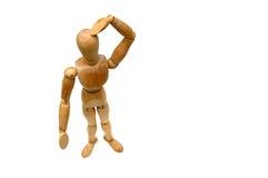 Figurine - Where am I royalty free stock photography