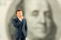 Figurine of wisdom businessman Royalty Free Stock Images