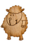 Figurine from wooden chipboard, decorative element for scrapbook Royalty Free Stock Images