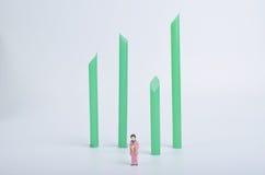 figurineof Japaner mit Weißrückseitenboden Lizenzfreie Stockfotografie