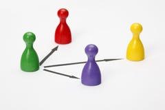 Figurines игры на белой предпосылке Стоковое Изображение