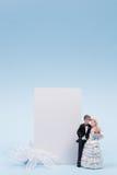 figurines карточки приветствуя венчание Стоковые Фото