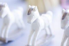 3 figurines лошадей Стоковая Фотография