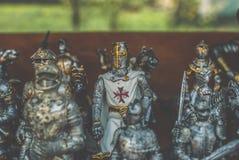 Figurines рыцарей Стоковое Изображение