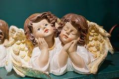 figurines 2 рождества ангела Стоковое Фото