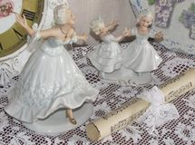 Figurines of ballerinas and dancing girls Royalty Free Stock Photo