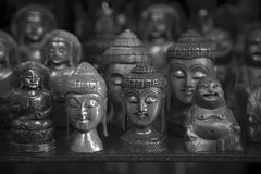 Figurines of Buddha and deity. In the souvenir shop of the Indian town royalty free stock photography