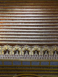 Figurines of Buddha inside the temple Stock Photography