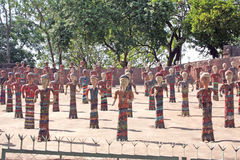 Figurines chandigarh India del giardino di roccia fotografia stock libera da diritti