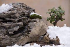Figurines cinesi dell'argilla fotografia stock