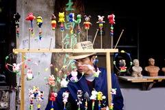 Figurines d'argile dans le xinchang Image stock