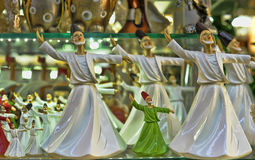 Figurines dancing dervishes Royalty Free Stock Photos