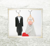 Figurines de mariage. Image stock
