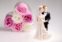 Figurines de pares do casamento Foto de Stock