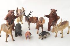 Figurines della foresta Immagini Stock Libere da Diritti