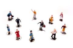 Figurines della gente Fotografia Stock