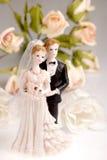 Figurines des couples de mariage Images libres de droits