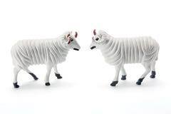 Figurines dos carneiros Fotografia de Stock Royalty Free