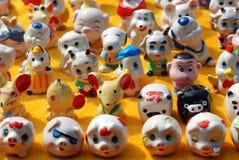 Figurines dos desenhos animados da porcelana Fotografia de Stock Royalty Free